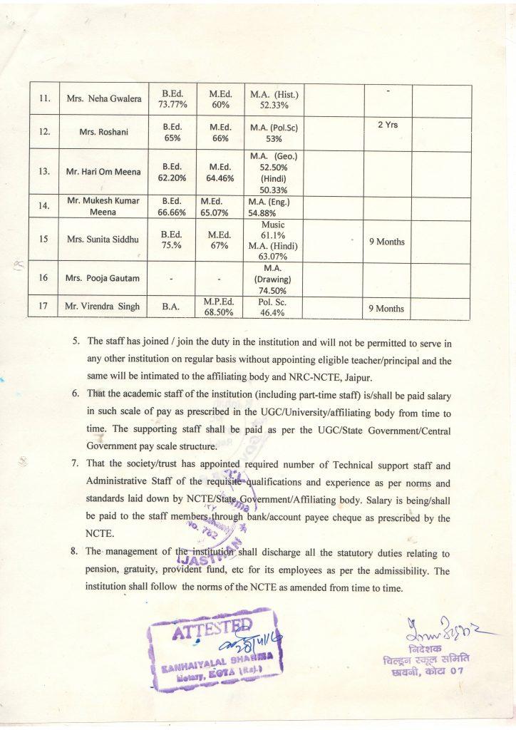 D.El.Ed.-Affi. regarding Faculty P.No. 3